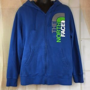The North Face Blue Zippered Hoodie